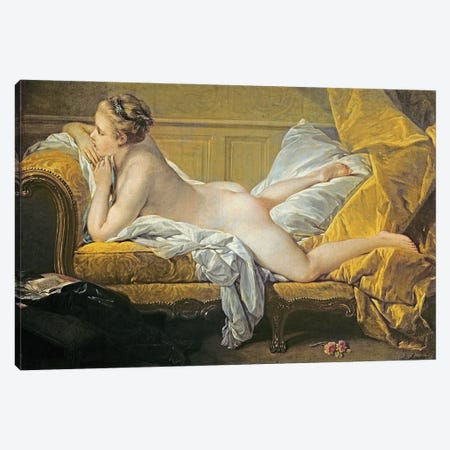 Reclining Nude (Miss O'Murphy) Canvas Print #BMN11434} by Francois Boucher Canvas Art