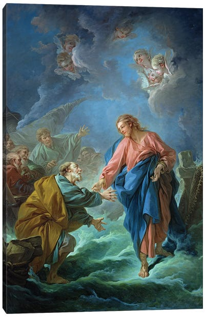 St. Peter Invited To Walk On The Water, 1766 Canvas Art Print