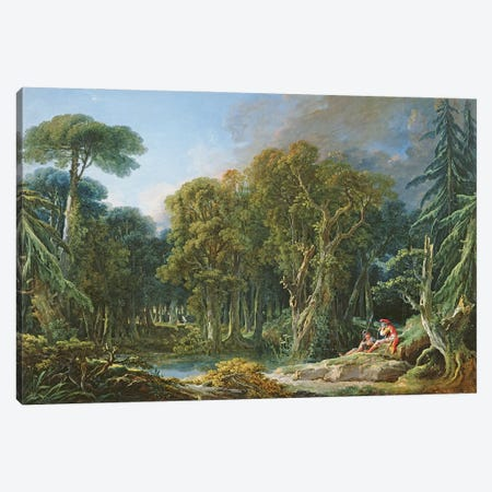 The Forest, 1740 Canvas Print #BMN11436} by Francois Boucher Canvas Wall Art