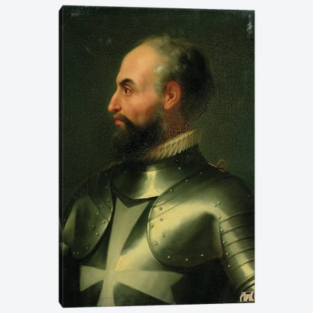 Jean de la Valette (Grand Master Of The Knights Of The Order Of Malta) Canvas Print #BMN11438} by Francois Xavier Dupre Canvas Art Print