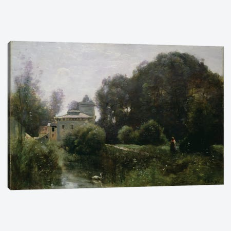 Souvenir of the Villa Borghese, 1855  Canvas Print #BMN1143} by Jean-Baptiste-Camille Corot Art Print