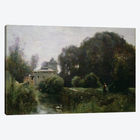 Souvenir of the Villa Borghese, 1855  Canvas Print #BMN1143} by Jean-Baptiste-Camille Corot Art Print