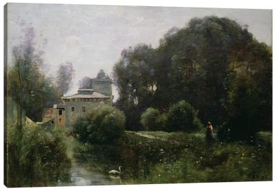 Souvenir of the Villa Borghese, 1855  Canvas Art Print