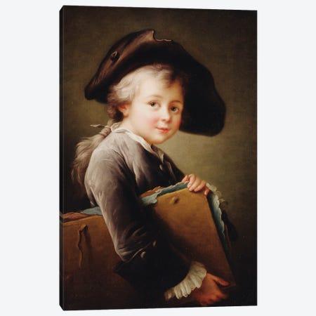A Young Boy Holding A Portfolio, 1760 Canvas Print #BMN11440} by Francois-Hubert Drouais Canvas Artwork