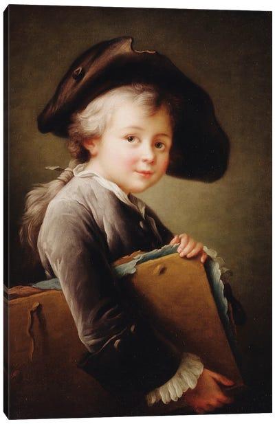 A Young Boy Holding A Portfolio, 1760 Canvas Art Print
