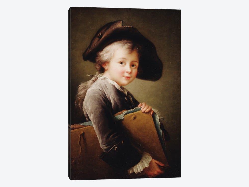 A Young Boy Holding A Portfolio, 1760 by Francois-Hubert Drouais 1-piece Canvas Print