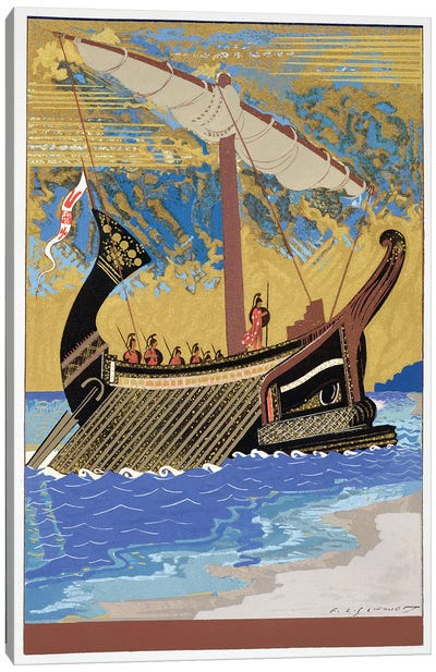 The Ship Of Odysseus (Illustration From Homer's The Odessy), 1930-33 Canvas Art Print