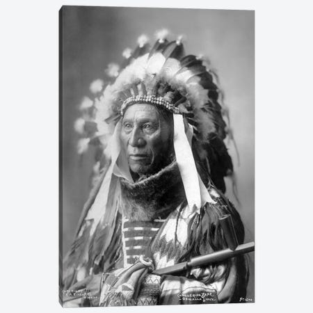 Conquering Bear (Chief Of The Brulé Lakota) Canvas Print #BMN11443} by Frank Albert Rinehart Canvas Wall Art