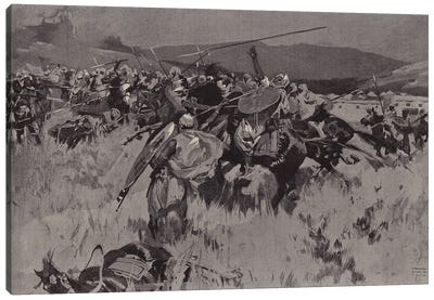 The British Force Withstanding A Cavalry Charge At Ugu (British Mission To Kano) Canvas Art Print