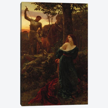 Chivalry, 1885 Canvas Print #BMN11449} by Frank Dicksee Canvas Art