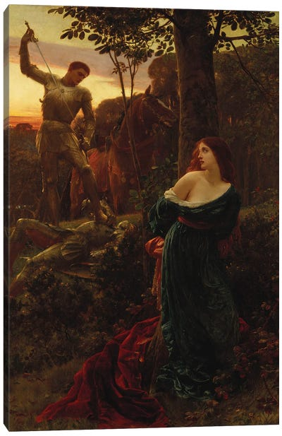 Chivalry, 1885 Canvas Art Print