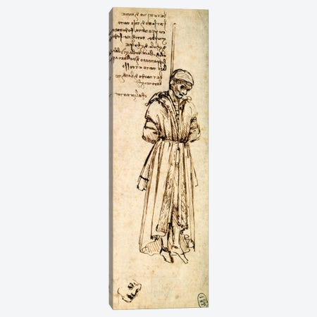 Study of the Hanged Bernardo di Bandino Baroncelli, assassin of Giuliano de Medici, 1479  Canvas Print #BMN1144} by Leonardo da Vinci Canvas Artwork