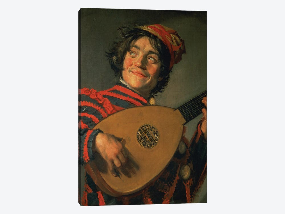 Portrait Of A Jester With A Lute by Frans Hals the Elder 1-piece Canvas Print