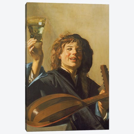 The Merry Lute Player, c.1624-28 Canvas Print #BMN11454} by Frans Hals the Elder Canvas Wall Art