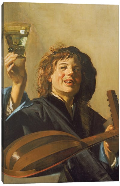 The Merry Lute Player, c.1624-28 Canvas Art Print