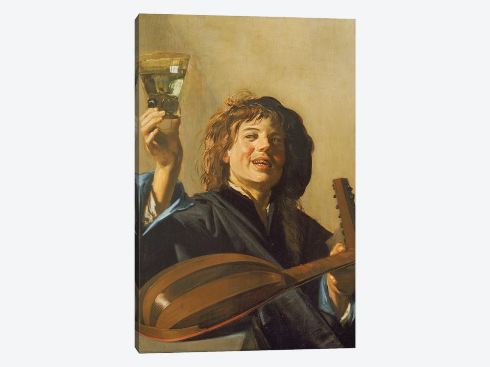 The Merry Lute Player, c.1624-28 by Frans Hals the Elder 1-piece Canvas Art