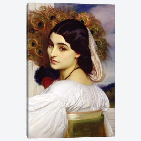 Pavonia, 1859 Canvas Print #BMN11461} by Frederic Leighton Canvas Art