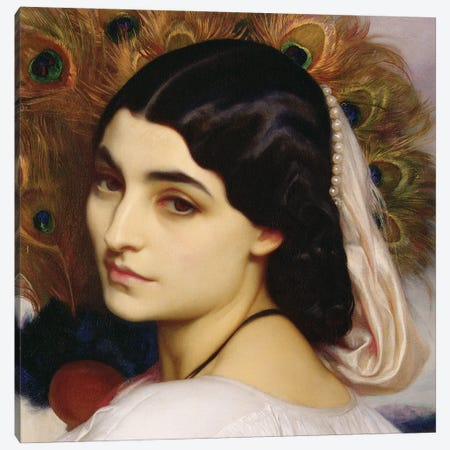 Pavonia, 1859 (In Zoom) Canvas Print #BMN11462} by Frederic Leighton Canvas Wall Art