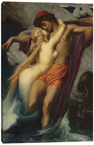 The Fisherman And The Syren (Inspired By Goethe), 1857 Canvas Art Print