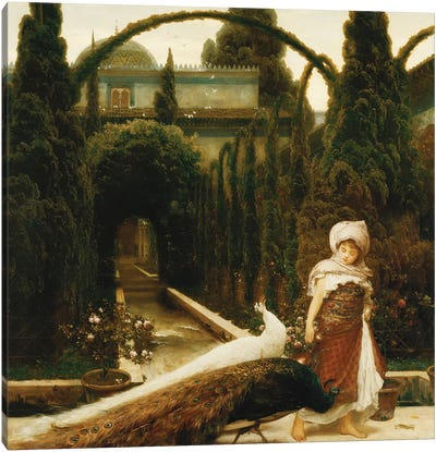 The Moorish Garden (A Dream Of Granada), 1874 Canvas Art Print