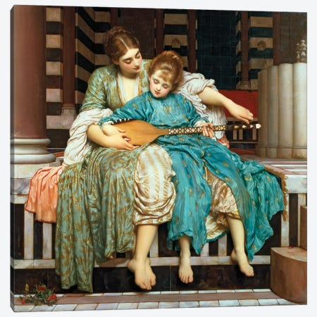 The Music Lesson, 1877 Canvas Print #BMN11471} by Frederic Leighton Canvas Print