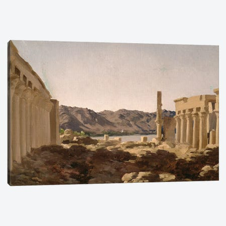 The Temple Of Philae, 1868 Canvas Print #BMN11472} by Frederic Leighton Canvas Art Print
