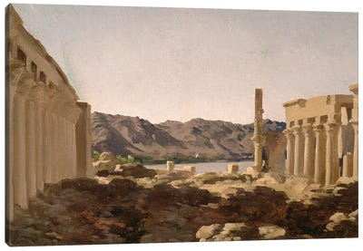 The Temple Of Philae, 1868 Canvas Art Print