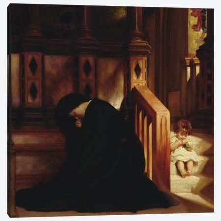 The Widow's Prayer, c.1864-65 Canvas Print #BMN11473} by Frederic Leighton Canvas Art Print