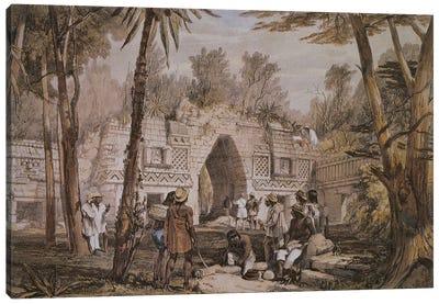 Gateway At Labnah, Yucatan, Mexico (Illustration From Views Of Ancient Monuments In Central America, Chiapas And Yucatan), 1844 Canvas Art Print