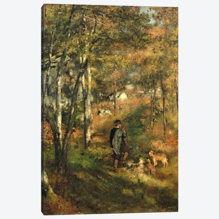 Jules Le Coeur in the Forest of Fontainebleau, 1866 Canvas Print #BMN1147} by Pierre-Auguste Renoir Canvas Wall Art
