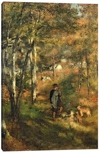 Jules Le Coeur in the Forest of Fontainebleau, 1866 Canvas Art Print