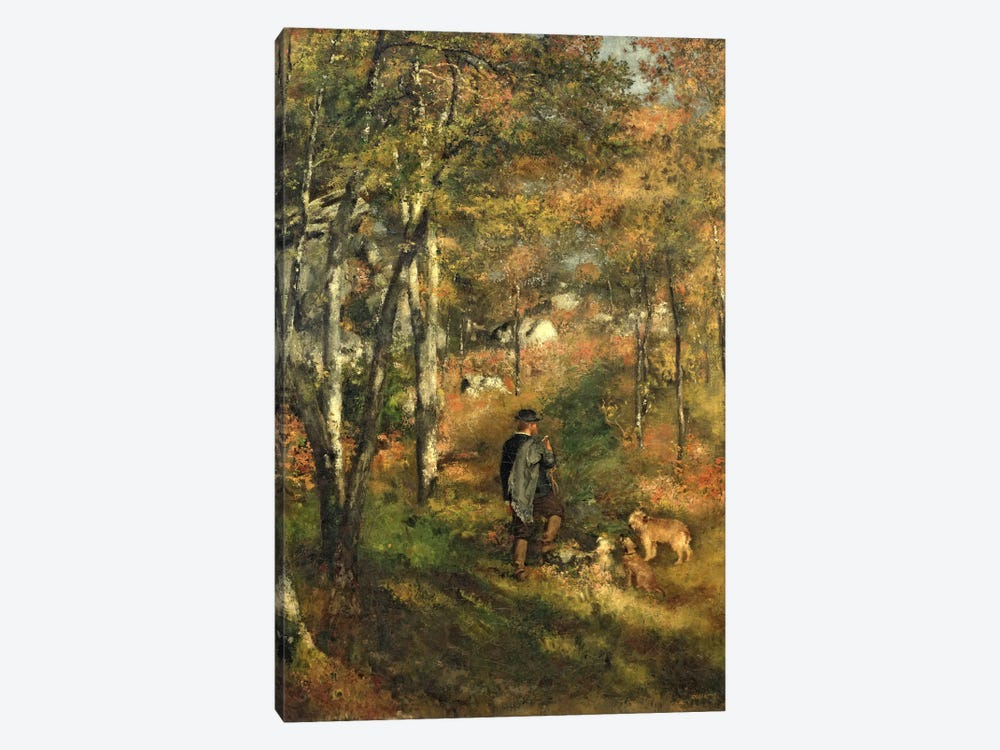 Jules Le Coeur in the Forest of Fontainebleau, 1866 by Pierre-Auguste Renoir 1-piece Canvas Print