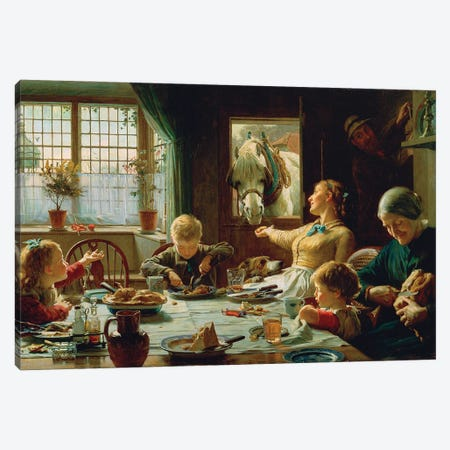 One Of The Family, 1880 Canvas Print #BMN11481} by Frederick George Cotman Canvas Artwork