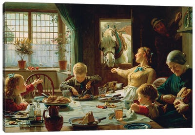 One Of The Family, 1880 Canvas Art Print