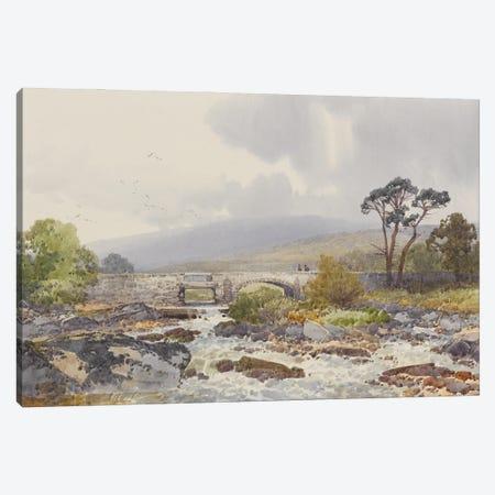 Hill Bridge On The Tavy , c.1895-96 Canvas Print #BMN11482} by Frederick John Widgery Canvas Wall Art