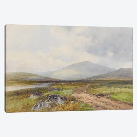 Scene On The Taw, Stepperton , c.1895-96 Canvas Print #BMN11483} by Frederick John Widgery Canvas Wall Art