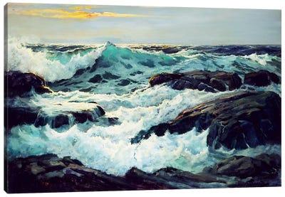 Surf And Headlands Canvas Art Print