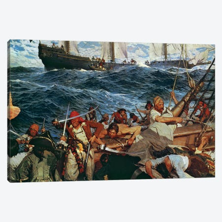 The Buccaneers Canvas Print #BMN11485} by Frederick Judd Waugh Art Print