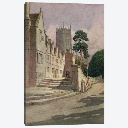 The Almshouses, Campden, 1907 Canvas Print #BMN11486} by Frederick Landseer Maur Griggs Art Print