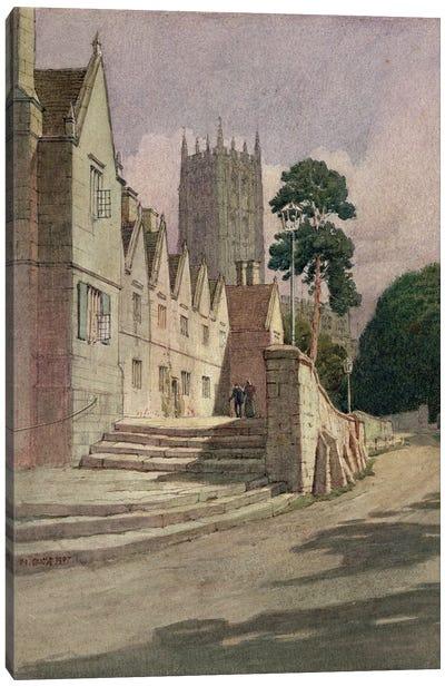 The Almshouses, Campden, 1907 Canvas Art Print