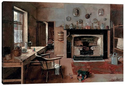Kitchen At The Old King Street Bakery, 1884 Canvas Art Print