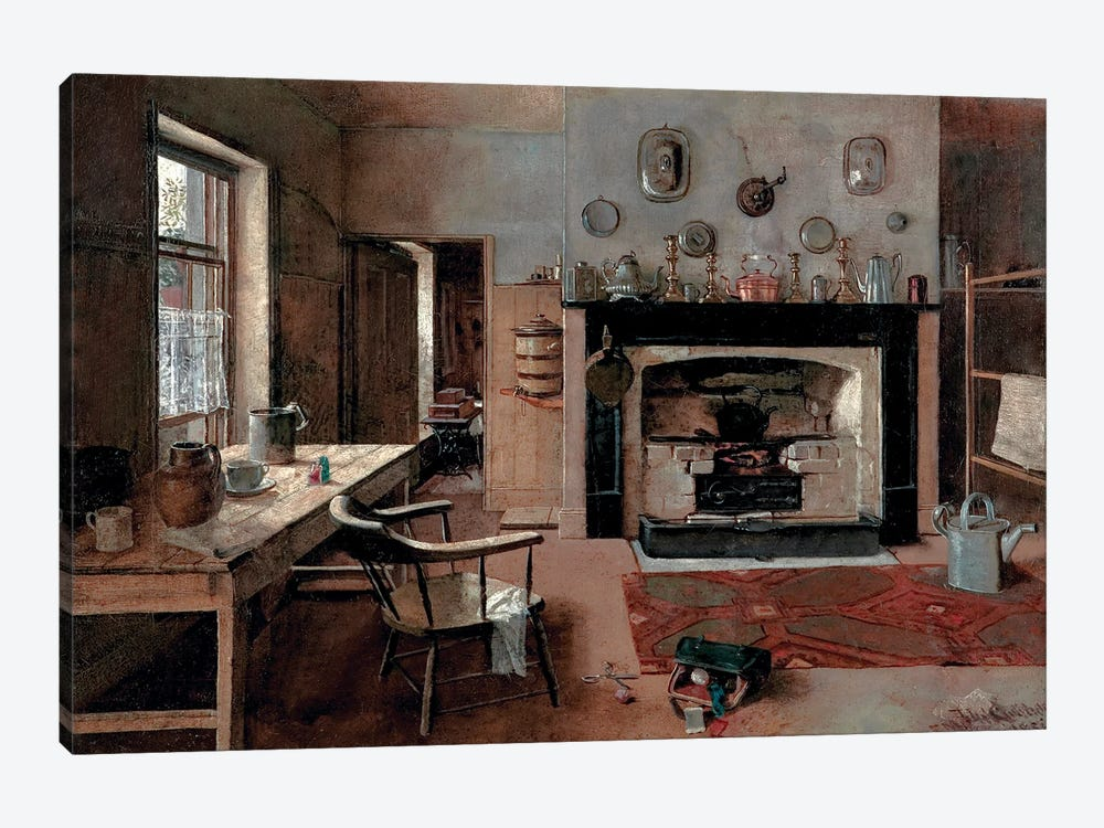 Kitchen At The Old King Street Bakery, 1884 by Frederick McCubbin 1-piece Canvas Print