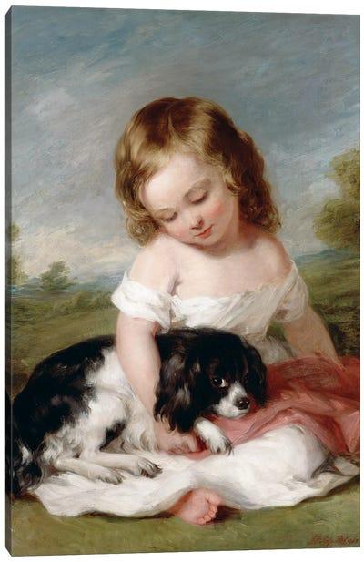 Portrait Of Sir Henry M. Meysey-Thompson (1st Baron Knaresborough) As A Boy, 1860 Canvas Art Print