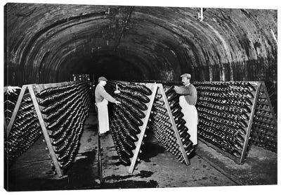 Wine Cellars In Champagne, c.1900 Canvas Art Print