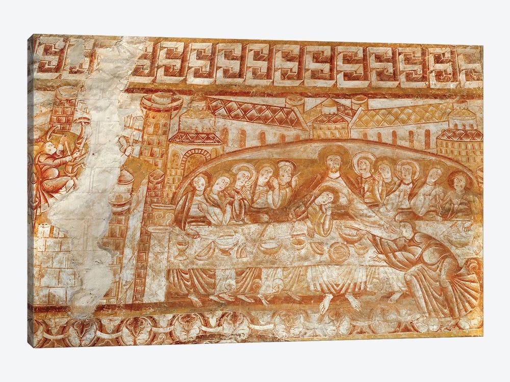 The Last Supper Frescoe, Church of Saint-Martin de Vic by French School 1-piece Canvas Wall Art