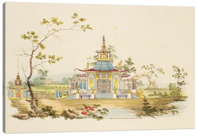 Design For A Chinese Temple I, c.1810 Canvas Art Print
