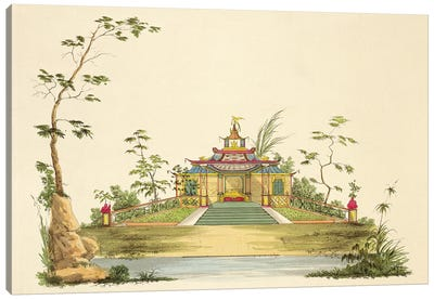 Design For A Chinese Temple II, c.1810 Canvas Art Print