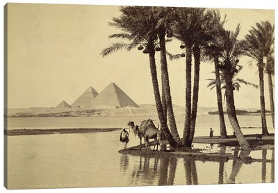 Distant View Of The Pyramids No. 6 Canvas Art Print