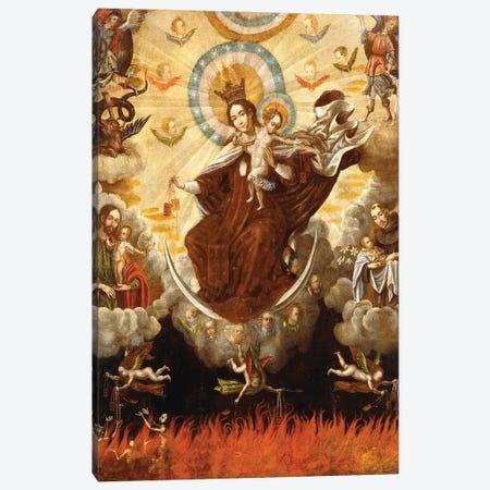 Virgen del Carmen, 1761 Canvas Print #BMN11513} by Gaspar Miguel de Berrio Canvas Art