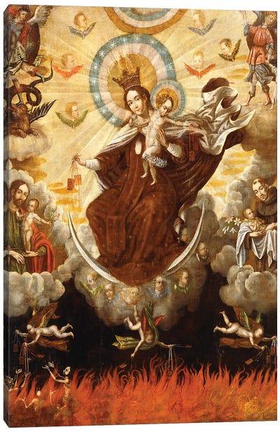 Virgen del Carmen, 1761 Canvas Art Print